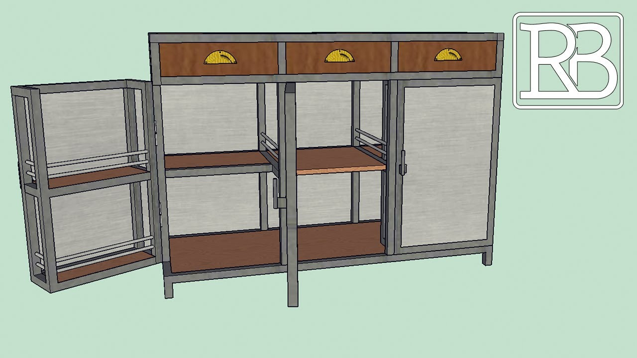 fabriquer un meuble metal et bois minibar buffet 1 2 diy. Black Bedroom Furniture Sets. Home Design Ideas