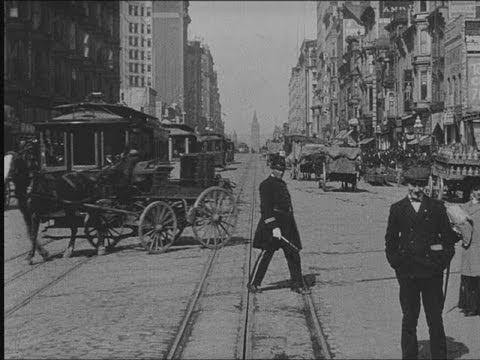 historic film market street 1906 youtube