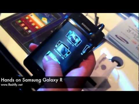 Hands on Samsung Galaxy R