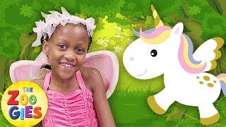 🌈Magical Wheels On The Bus 🦄Fairies & Baby Unicorns 🌈🧚Zouzounia TV
