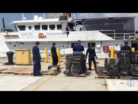 U.S. Coast Guard offloads $214 million of cocaine