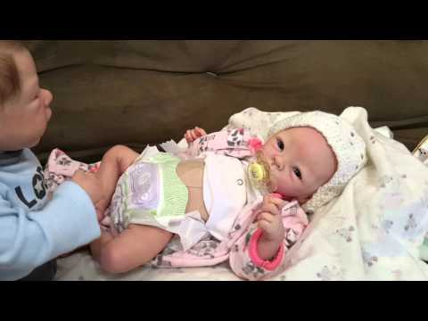 Molly Freaks Out! Poop Diaper! Changing Reborn Baby! Nlovewithreborns2011!