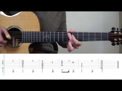 Harry Potter Theme - Fingerstyle Guitar Tutorial (lesson) by Mattias Krantz