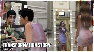 Transforming Into Girl!! Part 2 | Transformation Story | Sims 4