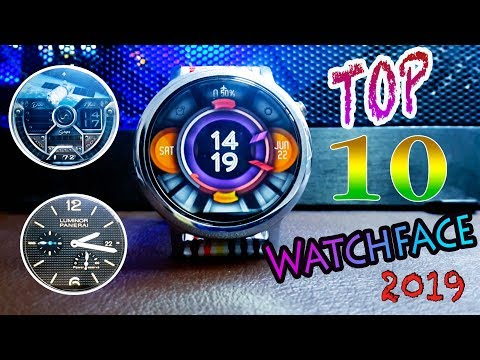 TOP FREE 10 WATCH FACES | Android Wear | Moto 360 2 | Ticwatch | Fossil 2019 EP.1