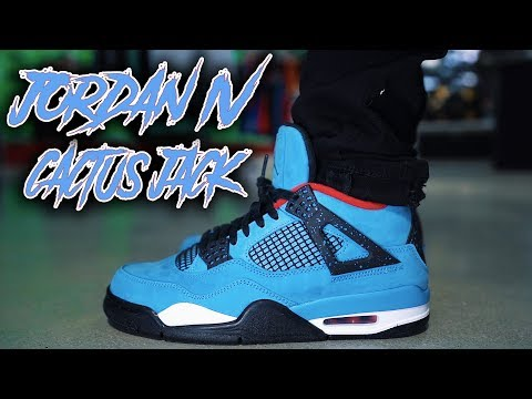 JORDAN 4 TRAVIS SCOTT CACTUS JACK REVIEW AND ON FOOT !!!
