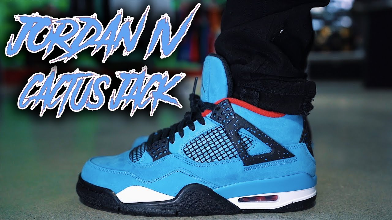 5344a8a3aa9 JORDAN 4 TRAVIS SCOTT CACTUS JACK REVIEW AND ON FOOT !!! - YouTube