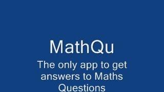 MathQu Android App Homework Help