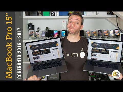 "CONFRONTO MacBook Pro 15"" 2017 Kaby Lake vs. 2016 Sky Lake"