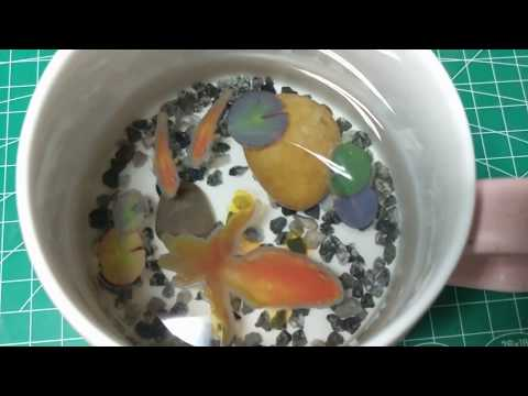 DIY滴胶3D金鱼杯/Epoxy Resin With 3D Fish Stickers Tea Cup