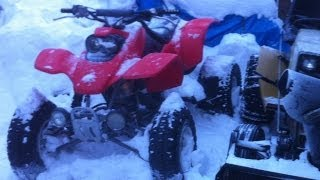 Honda TRX400EX *Winter Cold Start*