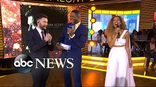 Catching up with Calum Scott and Leona Lewis on 'GMA' Video