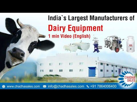 Chadha Dairy Equipment. Manufacturers Of Bulk Milk Cooler, Milk Vending Machine, Milking Machine Etc