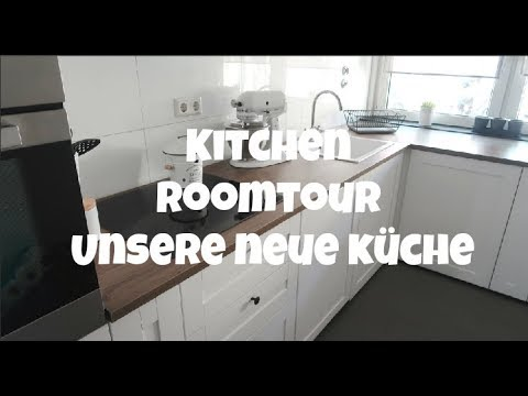 k chen roomtour komplett kitchen tour ikea k che unter 3000 youtube. Black Bedroom Furniture Sets. Home Design Ideas