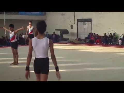 "Acrobatics Gymnastics, Amritsar, Punjab (2015 scl games) ""basics acrobat"""