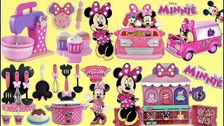 MINNIE MOUSE Deluxe Baking Set, Cooking, Happy Helper Van, Fashion Bow-tigue Playset
