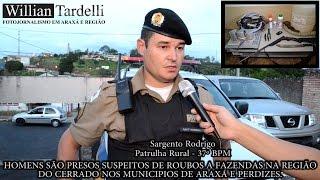 Comando 190 Araxá - Homens presos suspeito de furtos em fazendas região do
