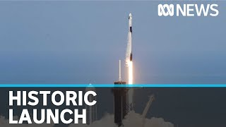 SpaceX successfully launches manned spacecraft into orbit | ABC News