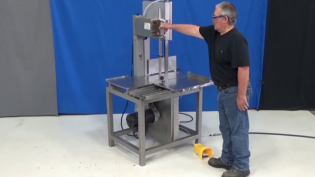 Auto Deploying Vertical Band Saw Guard Youtube