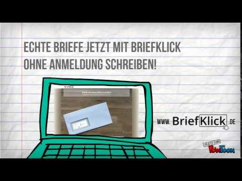 Briefklick Briefe Online Versenden Youtube