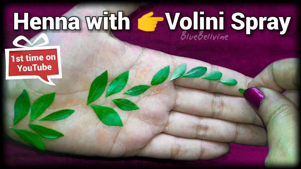I Applied Volini Spray On Henna Leaves I Get A Nice Colour Of