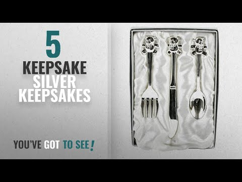 Top 10 Keepsake Silver Keepsakes [2018]: Silver Plated Teddy Cutlery Set - Lovely Gift for New