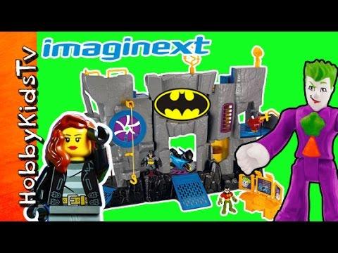 Batman Imaginext Batcave Trixie Robin Joker Two Face Riddler by HobbyKidsTV