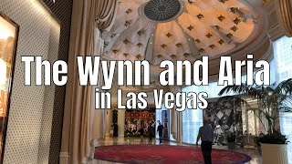 The Wynn, Aria and The Shops at Crystals in Las Vegas quick walkthrough in 4k