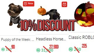 [Roblox] How to get 10% OFF on EVERY item in the catalog (Headless Horseman & Halloween items)