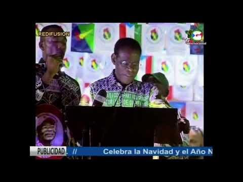 Discurso de Teodoro Obiang Nguema Mbasogo tras las elecciones emitido en RTVGE
