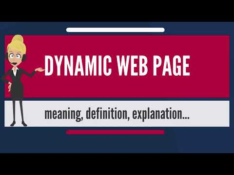 What is DYNAMIC WEB PAGE? What does DYNAMIC WEB PAGE mean? DYNAMIC WEB PAGE meaning