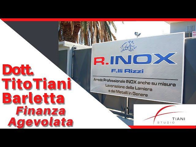 COMMERCIALISTA BARLETTA TITO TIANI - FINANZA AGEVOLATA STUDIO TIANI - RINOX