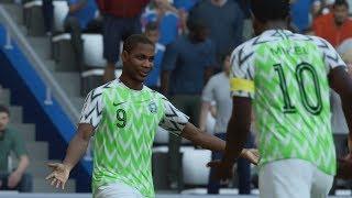World Cup 2018 - Nigeria vs Iceland - Group D Full Match Sim (FIFA 18)