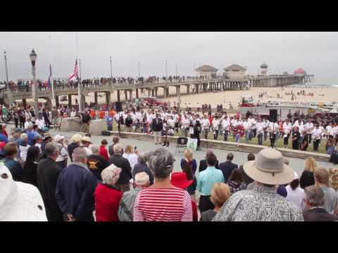 Huntington Beach Memorial Day Ceremony 2017  Pier Plaza