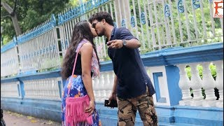 Kissing Prank on Girls 2018  Tricky Questions by prank in india