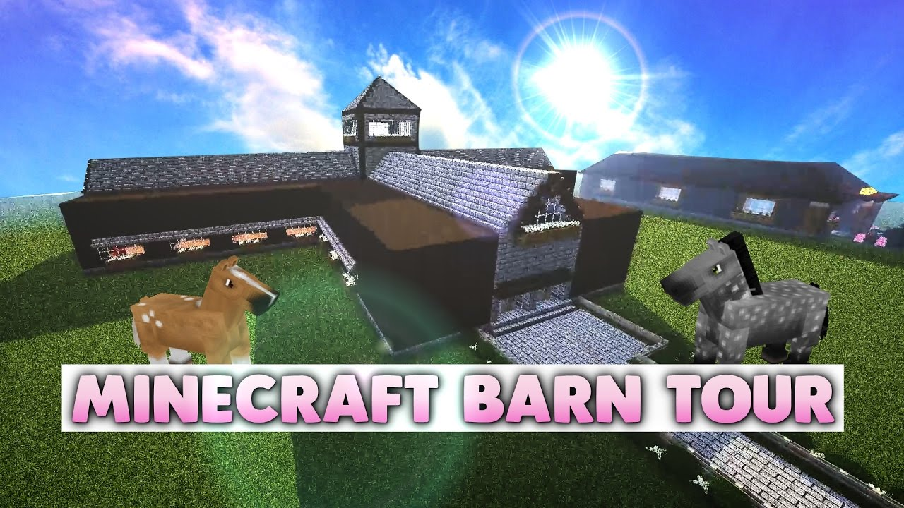 Minecraft Horse Stables Tour! - YouTube