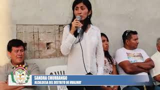 EN MEDIO DE ALGARABÍA SE INAUGURÓ OBRA DE AGUA Y SANEAMIENTO EN HUALMAY