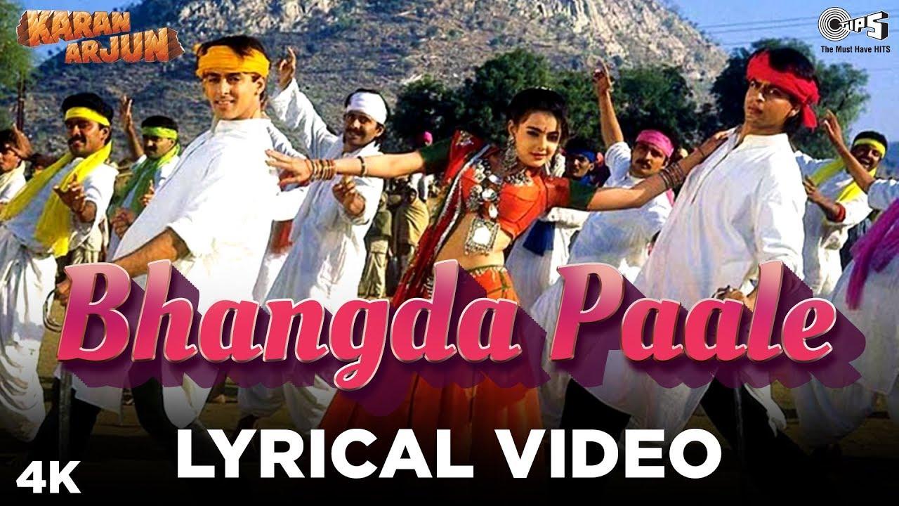 Bhangda Paale Lyrical - Karan Arjun | Sadhana Sargam, Mohammed Aziz, Sudesh Bhosle |Salman, ShahRukh