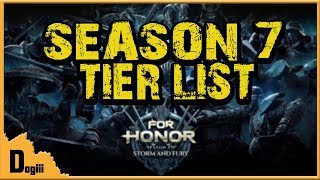 For Honor - Season 7 Tier List