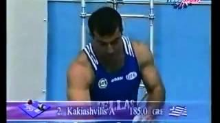 Kakhi Kakhiashvili  World Record 188 Kg, Athens, 1999