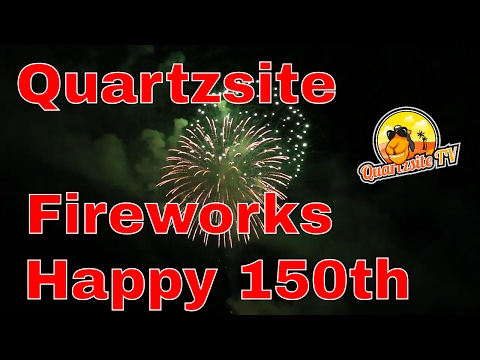 Quartzsite Fireworks Display From The Main Event Showplace... Happy 150th Quartzsite