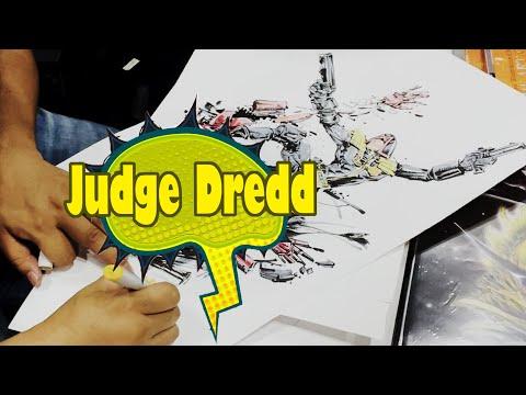 Judge Dredd 现场绘画