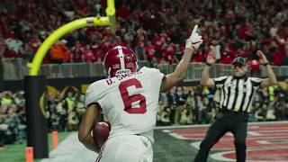 Tua's National Championship Winning Touchdown Throw - EXCLUSIVE Best Angle
