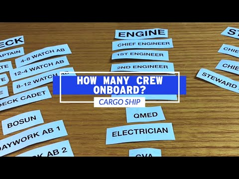 How Many Crew Work On A Cargo Ship?   Life At Sea