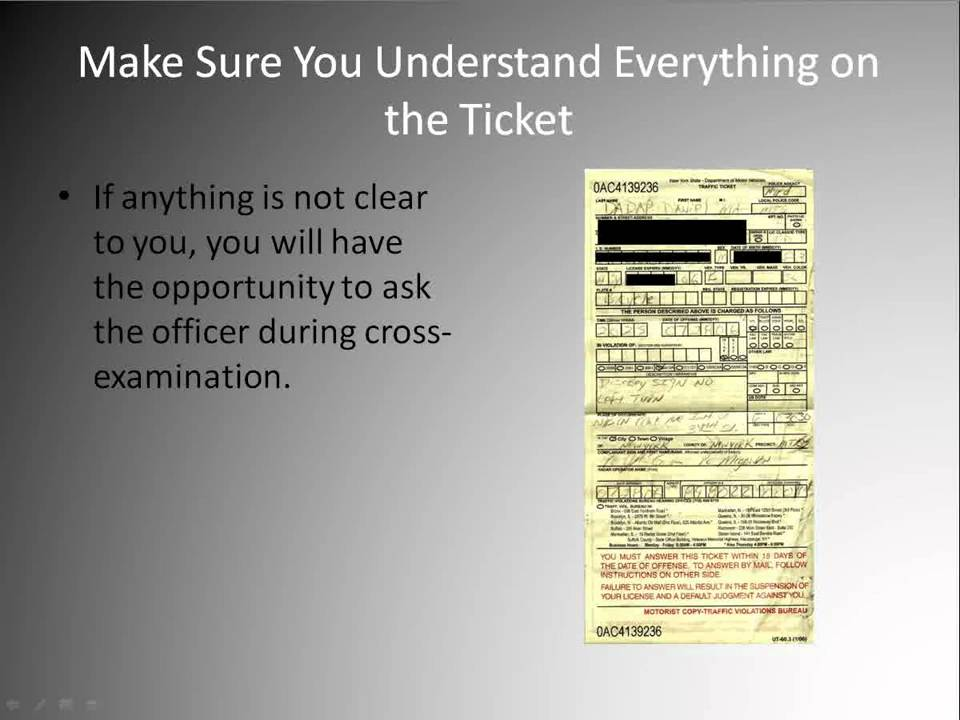 Traffic Ticket Nyc >> Traffic Ticket Dismissal - How To Get Yours Dismissed - YouTube