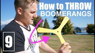BEST Hobby EVER! How To Throw A BOOMERANG. Learn Here | Day 9