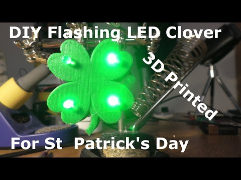 DIY Light Up Clover for St  Patrick's Day
