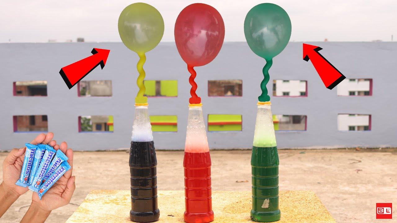 Experiment: Coca Cola, Sprite, Fanta VS Mentos - Super Reaction!
