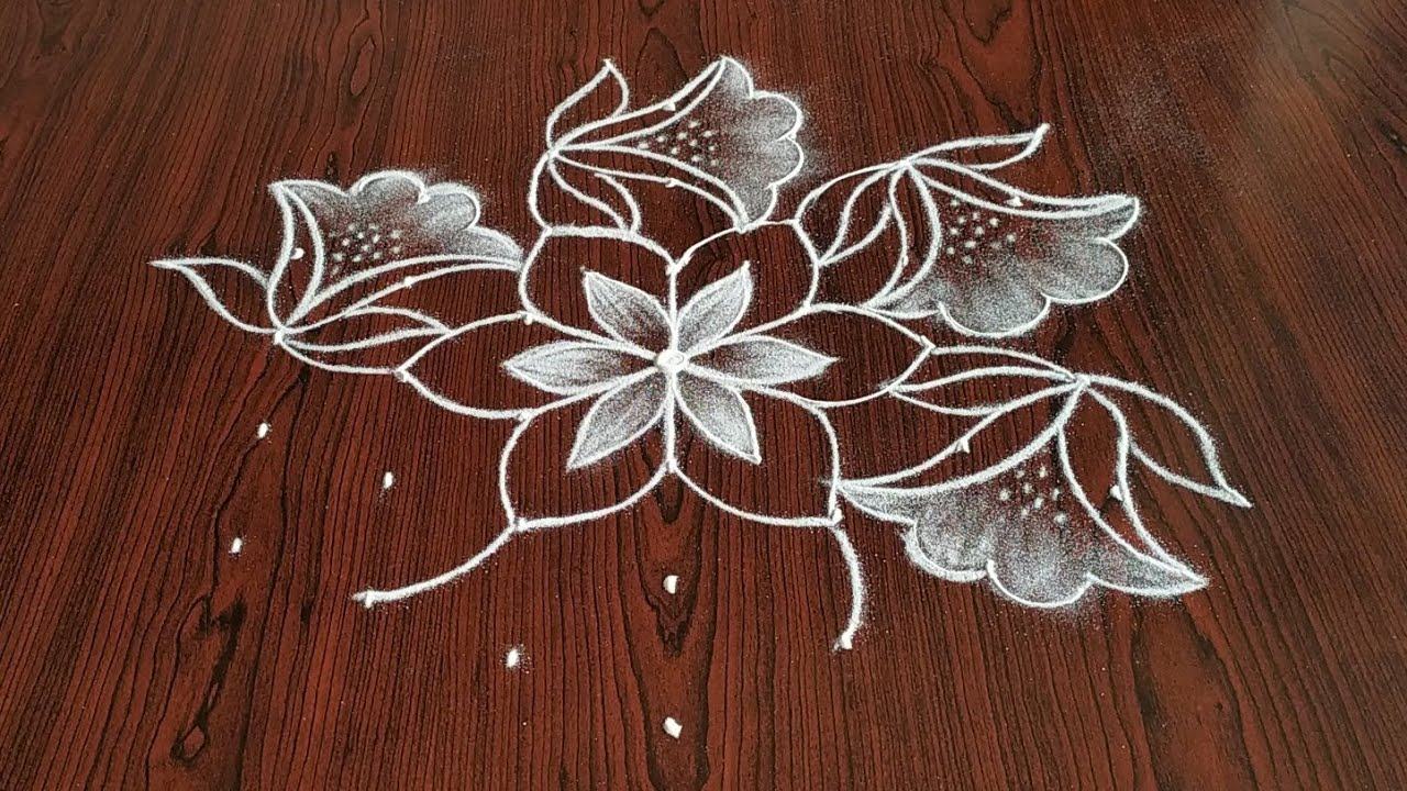 Simply easy Daily kolam (7×4) dot's...