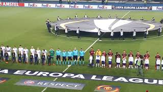 Vardar - Rosenborg, start of the match